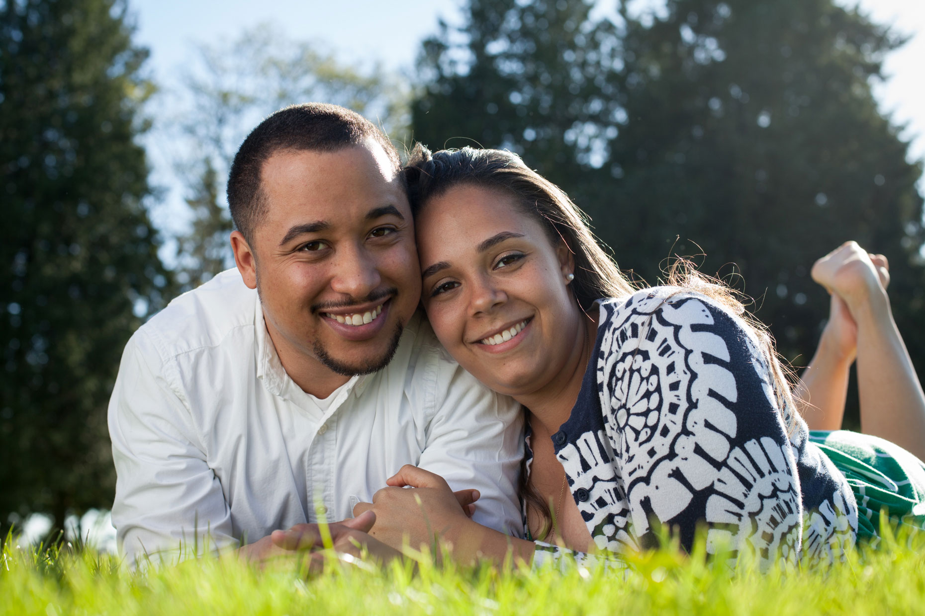happy young African American couple