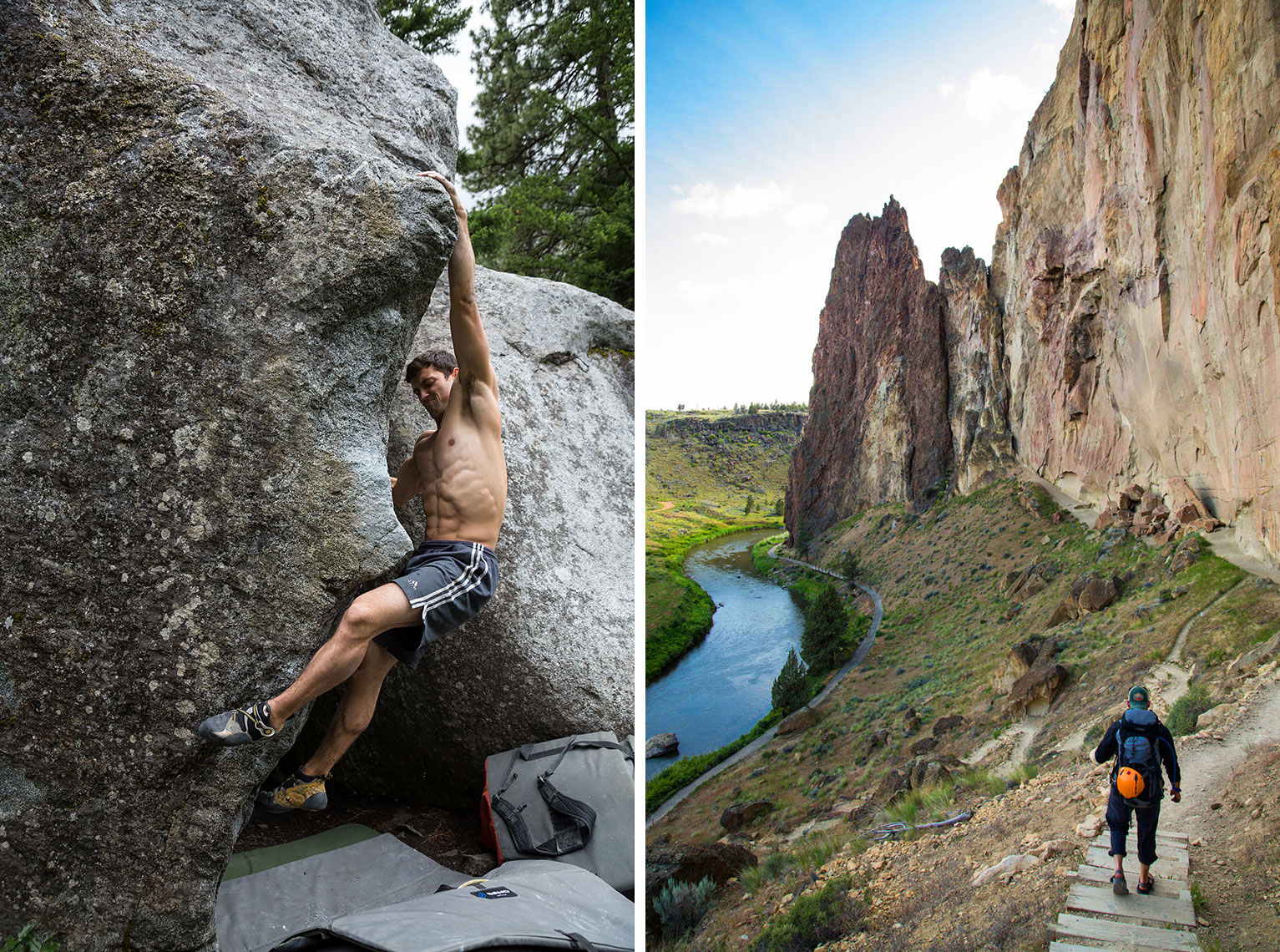 rock climbing at Smith Rock