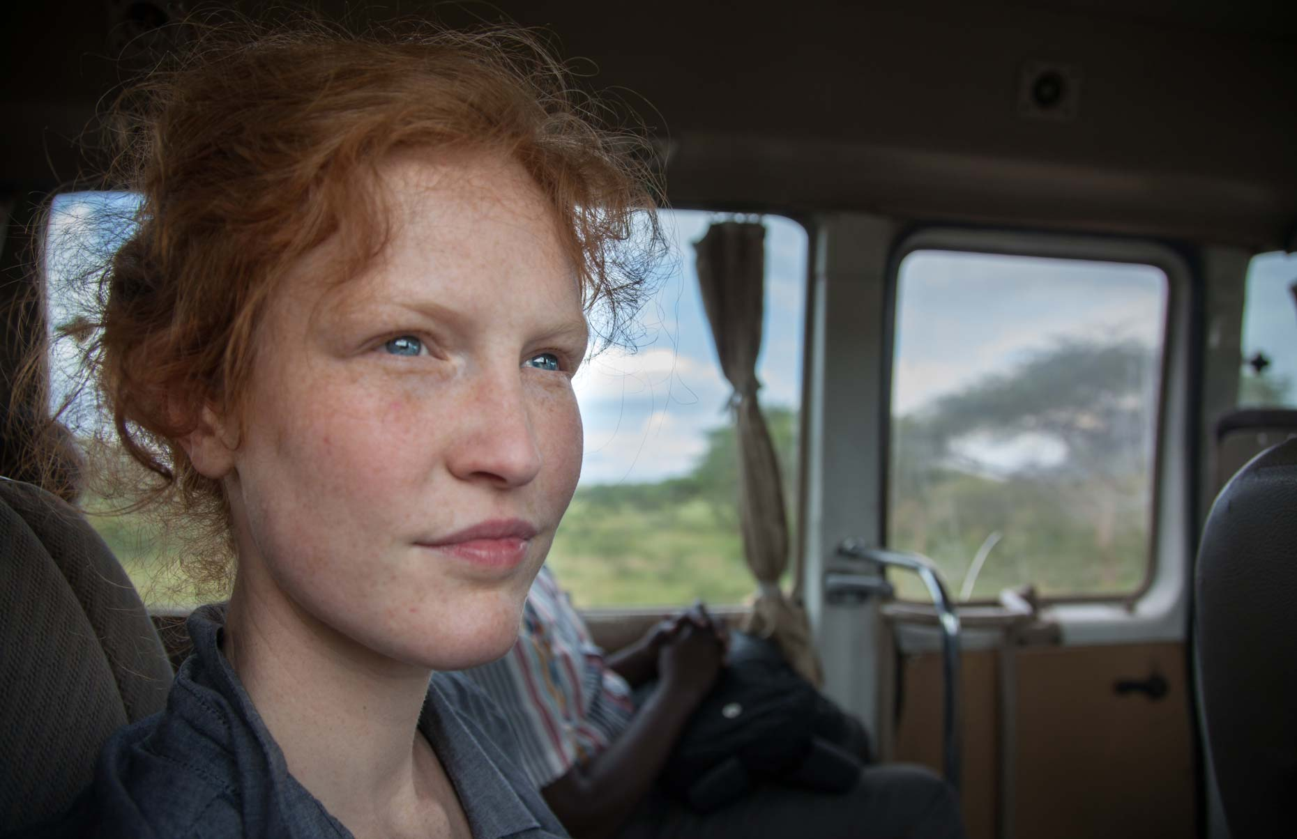 Woman traveling in  Africa
